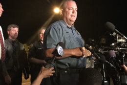 """""""We have a responsibility to these victims. We are deeply saddened by what happened today,"""" Acting Anne Arundel County Police Chief William Krampf said Thursday, June 28, 2018, in Annapolis, Maryland. (WTOP/Michelle Basch)"""