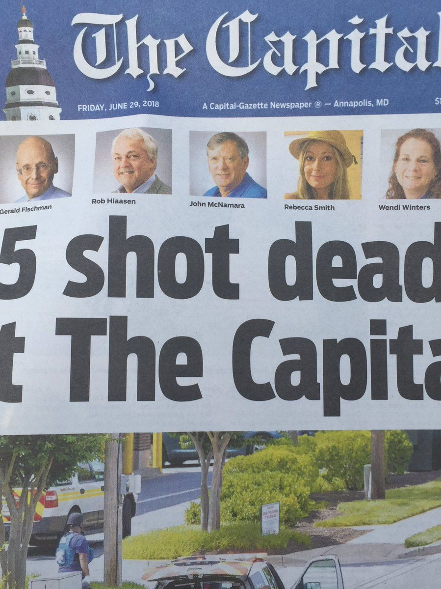 5 charges of murder in Capital Gazette shooting