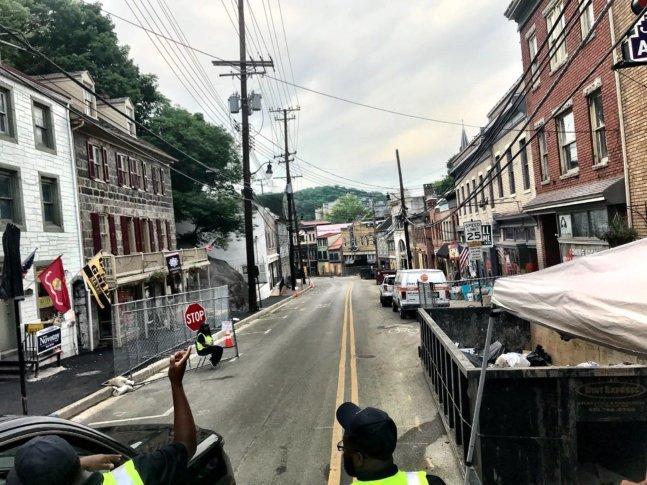 2 ends of ellicott city s main street reopen wtop