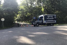 Crime scene investigators are due at the site of the Bijan Ghaisar shooting on Thursday, June 21. No confirmation or comment from FBI or D.C. prosecutors. (WTOP/Neal Augenstein)