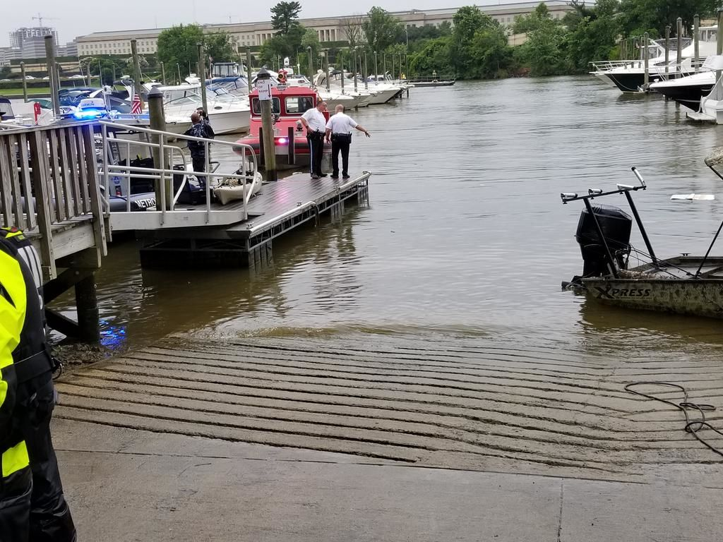 The vehicle was completely submerged in the water. (Courtesy Arlington Fire)