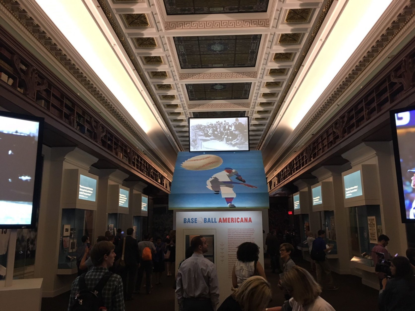 The exhibition also includes video archives provided by MLB. Docent-led public tours are available Wed.-Fri. at 11 a.m. and Saturdays at 1 p.m. beginning July 11. (WTOP/Noah Frank)