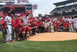 Washington Capitals' Alex Ovechkin, Stanley Cup, Nationals Park