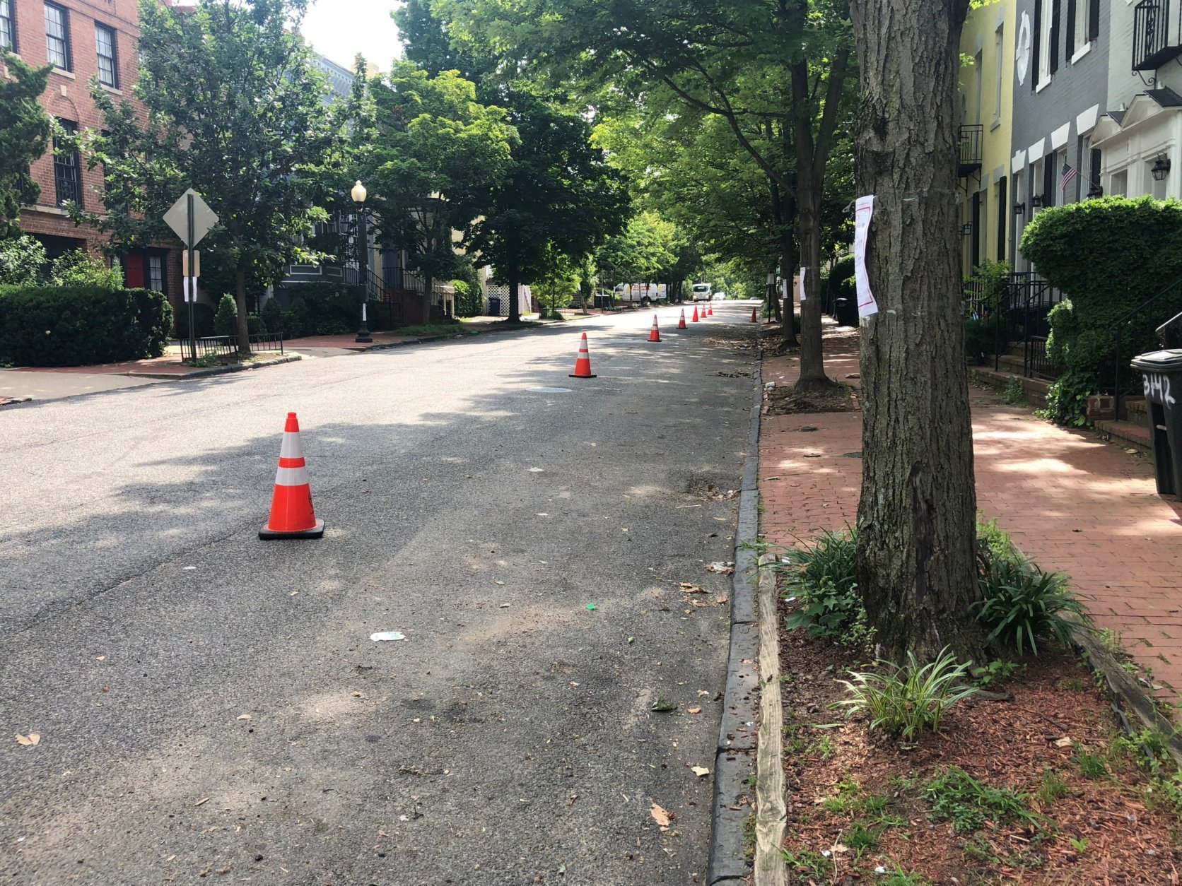 On Thursday, there were intermittent road closures from 6:30 a.m. to 8 p.m. on Wisconsin Avenue NW from M Street to P Street. (WTOP/Melissa Howell)
