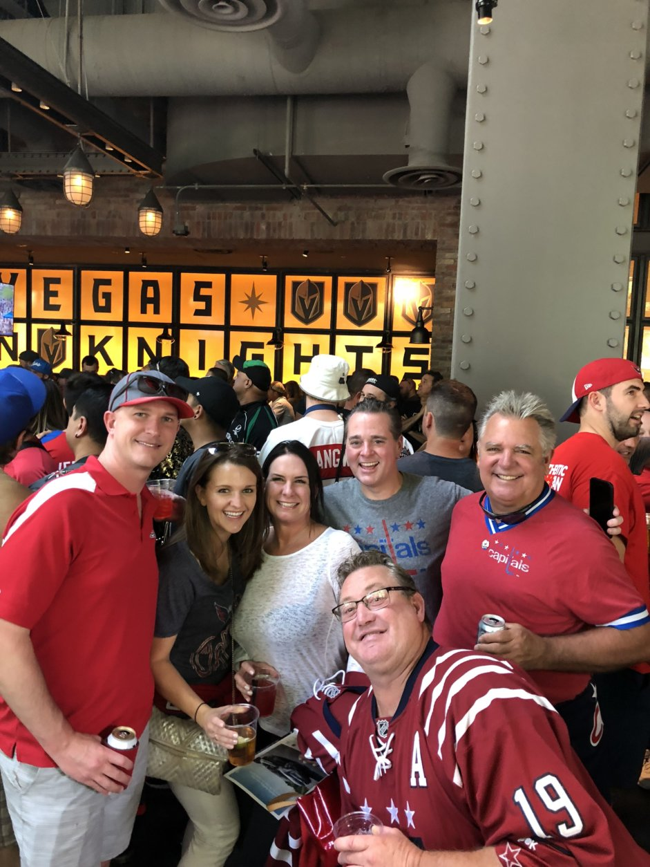 These 25-year season ticket holders made the trek to Vegas. (WTOP/Caitlin O'Connor)