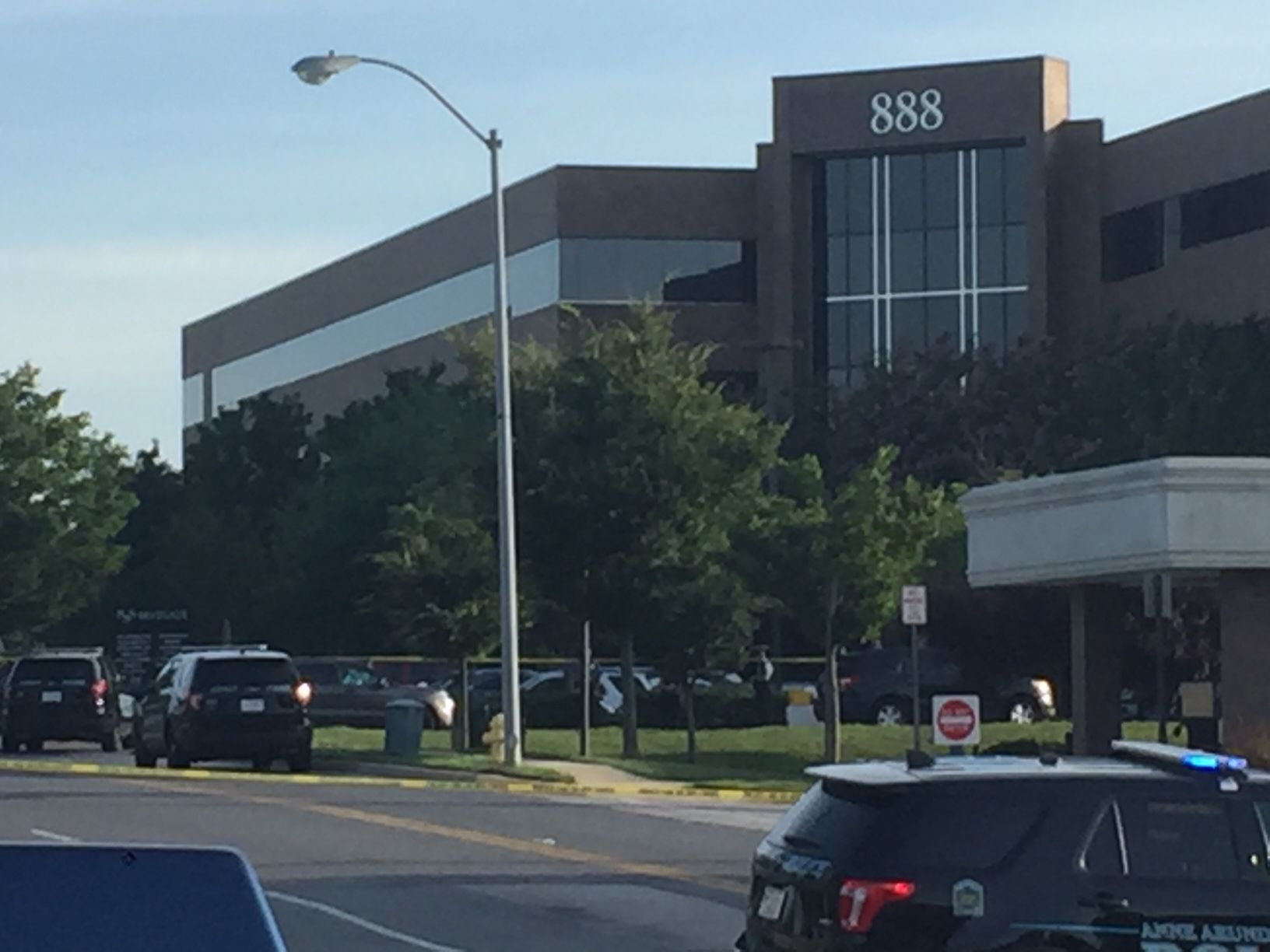 The building where the Capital Gazette newsroom is housed on 888 Bestgate Road in Annapolis, Maryland. (WTOP/John Domen)