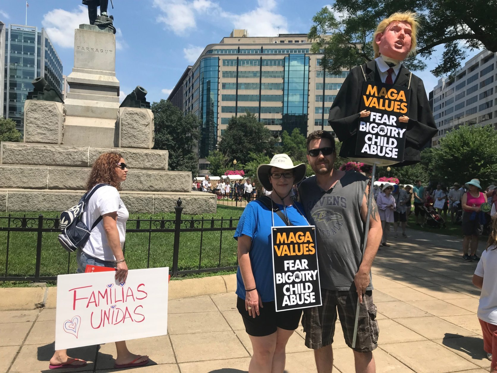 "Scenes from the ""Families Belong Together"" march and rally. (WTOP/Dick Uliano)"