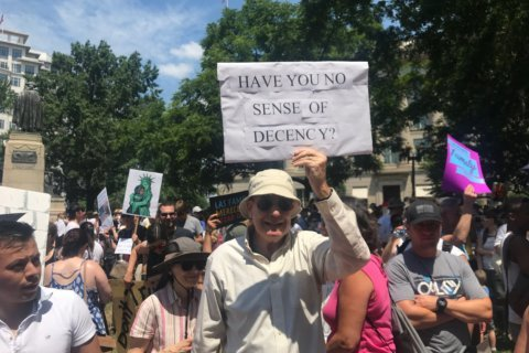 Thousands join 'Families Belong Together' march, rally in sweltering DC