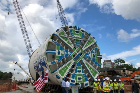 Tunnel-boring machine will help complete Anacostia River tunnel system