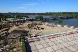 A look at the progress made on the construction of the Kennedy Center's expansion project on June 13, 2016. (Courtesy the Kennedy Center)