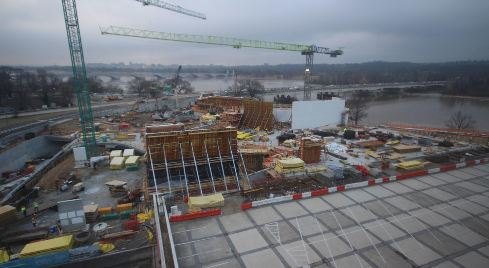 A look at the progress made on the construction of the Kennedy Center's expansion project on Jan. 16, 2018. (Courtesy the Kennedy Center)