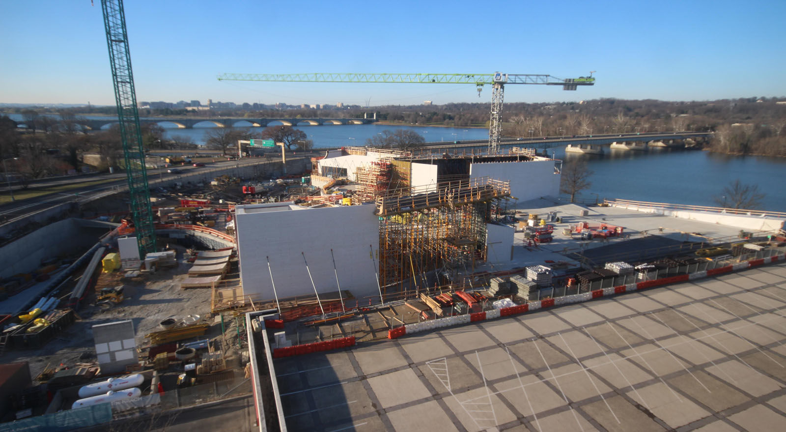A look at the progress made on the construction of the Kennedy Center's expansion project on March 17, 2018. (Courtesy the Kennedy Center)