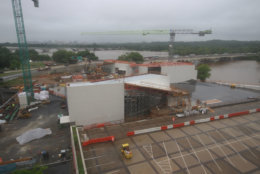 A look at the progress made on the construction of the Kennedy Center's expansion project on May 18, 2018. (Courtesy the Kennedy Center)