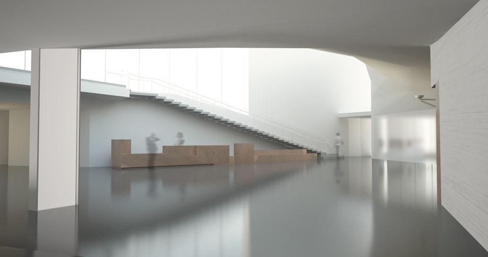 "A view inside the planned Welcome Pavilion, which the Kennedy Center said will ""connect visitors more deeply to the accessibility of the performing arts."" (Courtesy Steven Holl Architects via the Kennedy Center)"