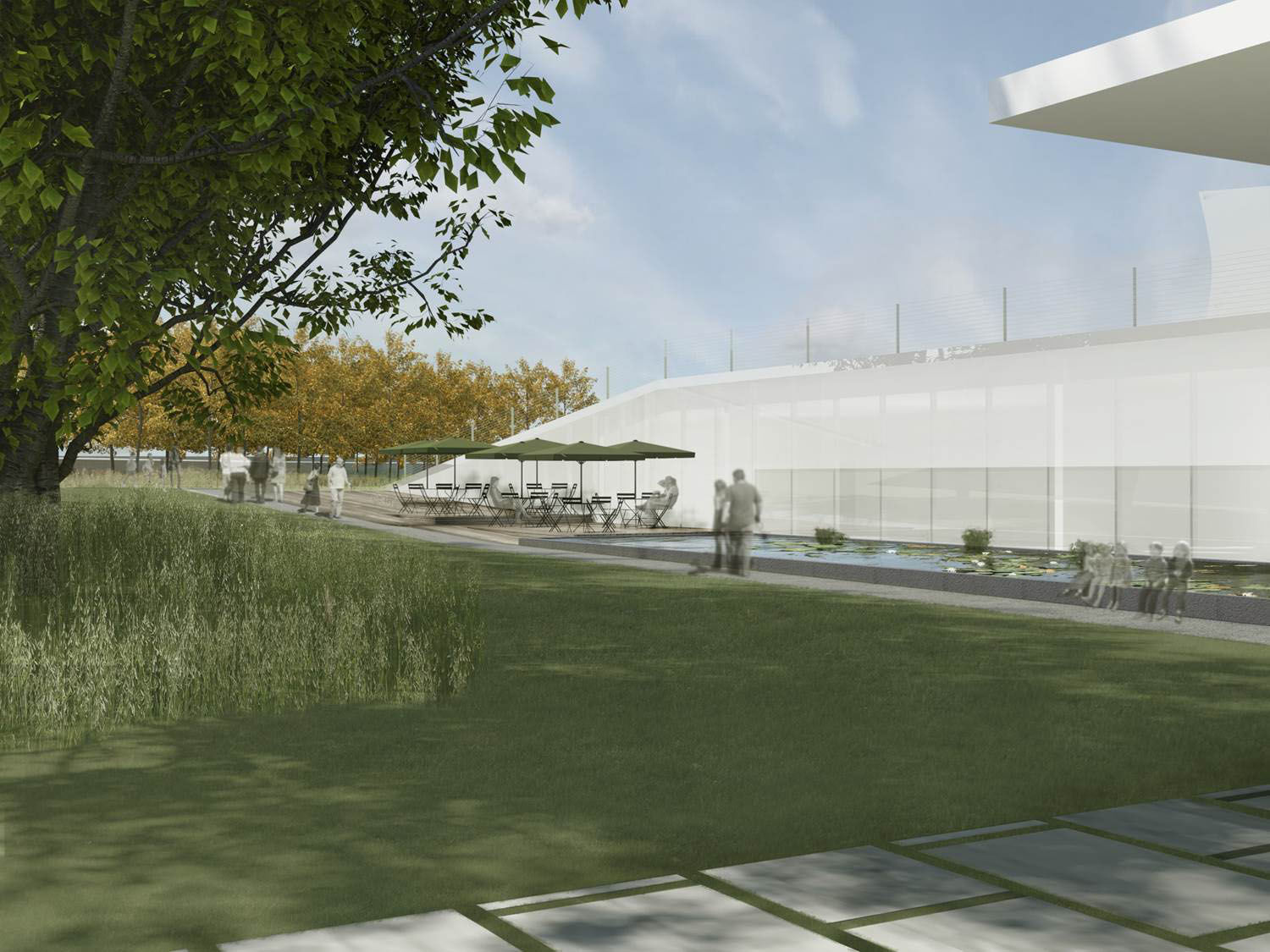 The Kennedy Center said visitors will be able to use the space as a place to gather and learn about the arts. (Courtesy Steven Holl Architects via the Kennedy Center)