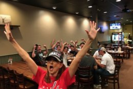 Fans cheer on the Caps. (Courtesy Kelly Thompson)