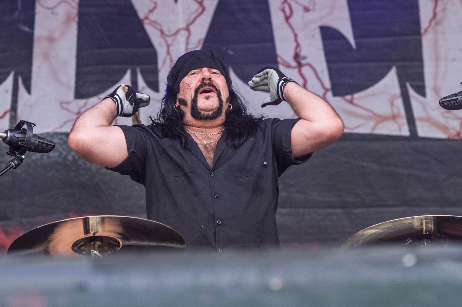 Vinnie Paul, co-founder and drummer of metal band Pantera, has died at 54. File. (Photo by Amy Harris/Invision/AP)
