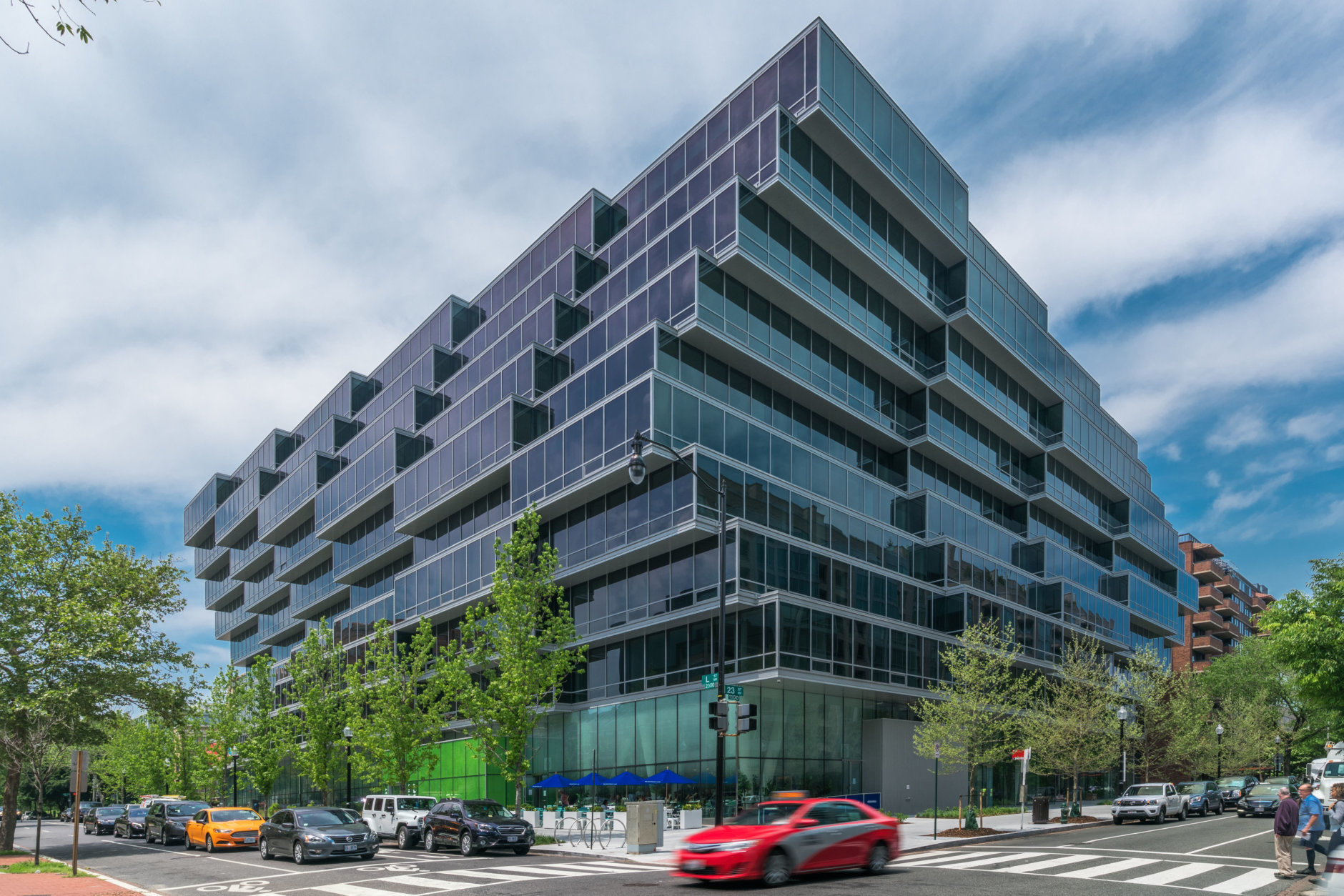 Real estate research firm Delta Associates says that the absorption of Class A apartment units, like the Apartments at Westlight, at the intersection of 23rd Street and L Street, NW, are skyrocketing. (Courtesy Eastbanc)