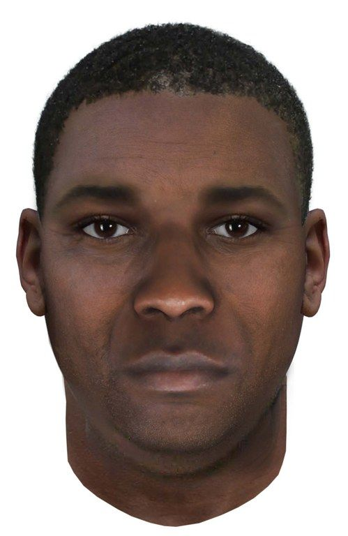 This image shows the age-progressed photo of the suspect in the D.C.-area serial hotel rapes created by a lab in Virginia. (Courtesy FBI.gov)