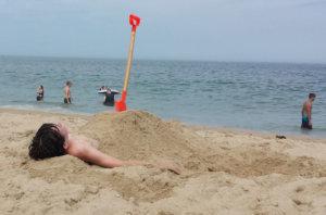 Boy buried in sand in Ocean City