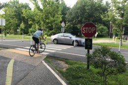 The Capital Crescent Trail is the county's most heavily used trail -- chock-full of recreational and commuter bicyclists, joggers, hikers and baby strollers. (WTOP/Dick Uliano)