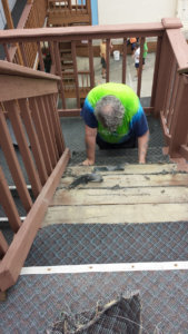Steps are repaired at a condo in Ocean City