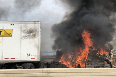 Police ID truck driver killed in fiery crash on Wilson Bridge