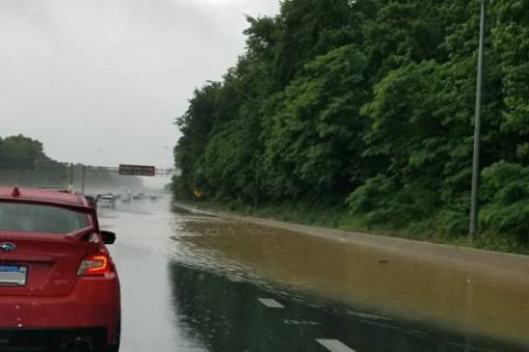 Photos: Sunday's heavy rainfall brings floods to Beltway and beyond