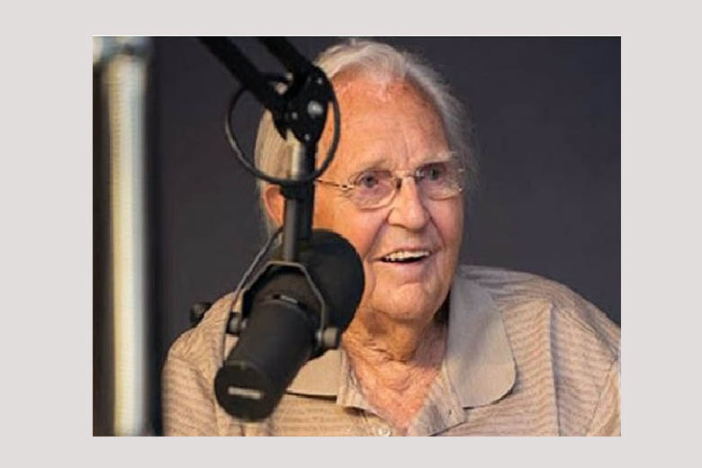 Frank Harden, who hosted the morning show on WMAL for more than 30 years, died on Friday, June 15, at 95. (Courtesy WMAL)