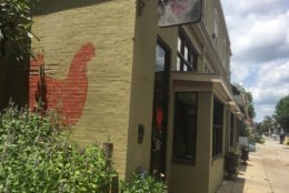 The Red Hen in D.C.'s Bloomingdale neighborhood has been egged since the incident in Lexington, Virginia. (WTOP/Mike Murillo)