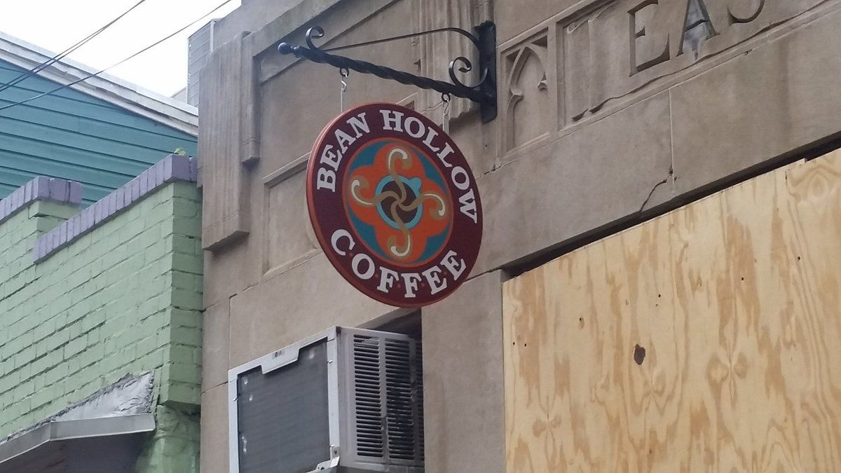 In a Facebook post, Gretchen Shuey, owner of Bean Hollow coffee shop on Main Street, says she won't be reopening at that location. (WTOP/Kathy Stewart)
