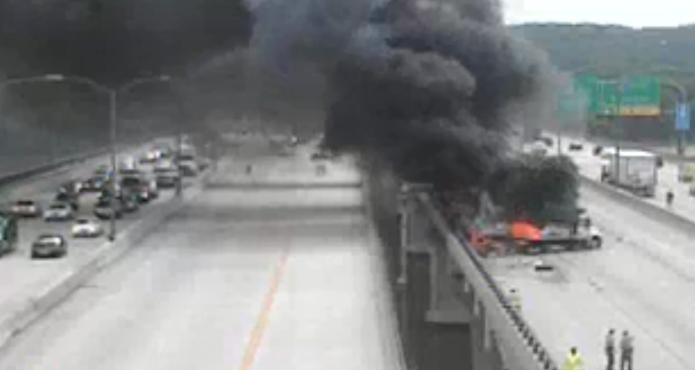 Truck driver Rodell Jones was killed Wednesday, after slamming into two work vehicles on the Wilson Bridge (Courtesy MDOT)