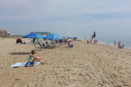 Ocean City beach with people in the sand