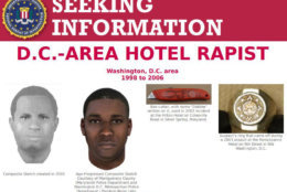 "The ""seeking information"" flyer produced by the FBI in relation to the serial hotel rapist whose DNA profile was indicted by a Grand Jury in Washington, D.C. (Courtesy FBI.gov)"