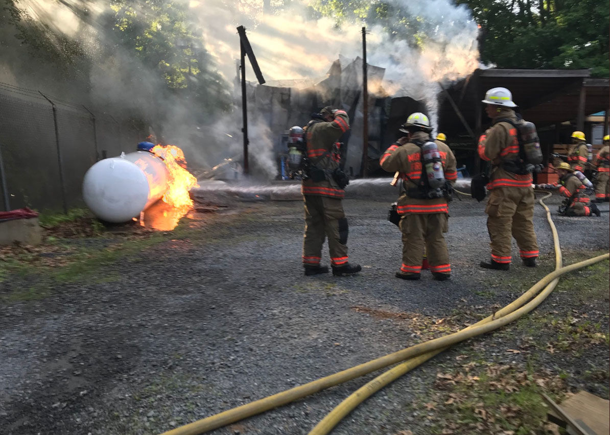 A fire breaks out in Seneca Creek State Park on Sunday, June 16, 2018. (Courtesy Montgomery County Fire and EMS)
