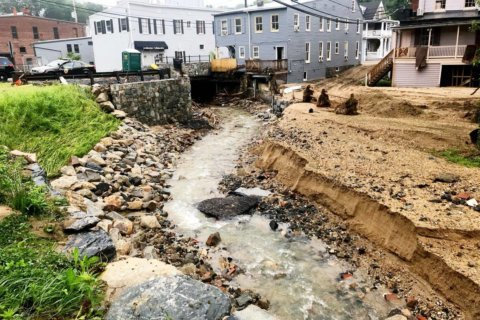 Ellicott City escapes flooding Thursday, braces for possibility in coming days
