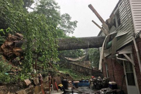 Heavy rain brings street flooding in DC region, slowdowns on Capital Beltway
