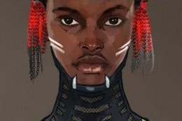 "This sketch is courtesy of Phillip Boutte Jr., a concept artist and production designer who worked on ""Black Panther."" It's just one of the images that will be discussed in a panel conversation during ""Wearing Wakanda."" (Courtesy Phillip Boutte Jr.)"