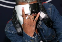 Rapper XXXTentacion attends the BET Hip Hop Awards 2017 on Oct. 6, 2017 in Miami Beach, Florida. Investigators said the 20-year-old rapper was shot on Monday, June 18, 2018, in Deerfield Beach, Florida. He was pronounced dead Monday evening at a Fort Lauderdale-area hospital. (Photo by Bennett Raglin/Getty Images for BET)