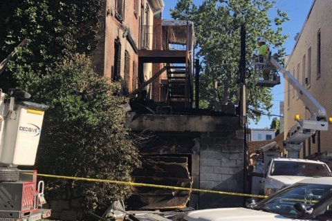 Family of 5 displaced after fire tears through Columbia Heights house