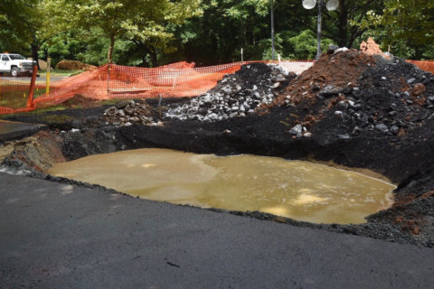 Montgomery Co. crews still working to patch sinkhole