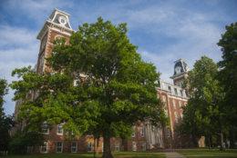 Old Main, a landmark and symbol of the University of Arkansas Campus in Fayetteville, Arkansas.