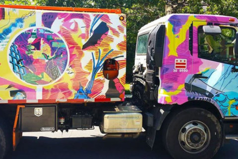 DC recycling trucks get artistic makeover