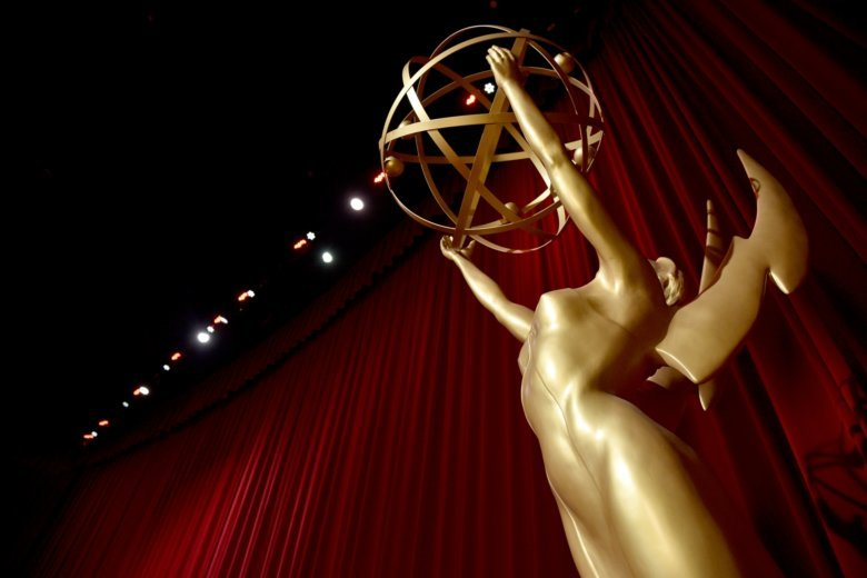 An Emmy Statue Appears On Stage At The Th Primetime Emmy Nominations Announcements At The Television Academys Saban Media Center On Thursday July