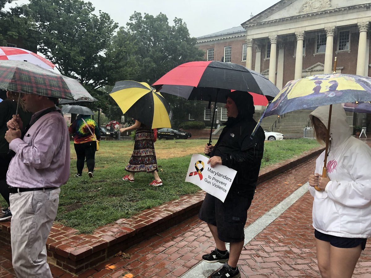 """""""I want to make our elected officials more transparent and more accessible,"""" Jaxon O'Mara, upcoming senior at Great Mills and leader of the rally, said."""