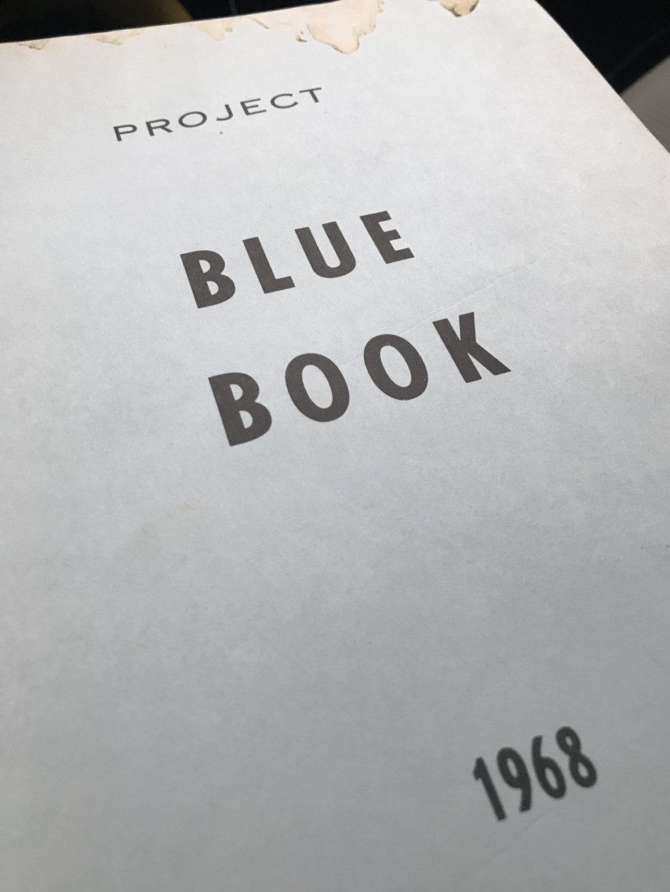 Shea wrote the press release in 1969 that announced the end of the Air Force's Project Blue Book. It studied more than 12,000 UFO reports, and is now the basis of an upcoming History Channel drama series. (WTOP/Michelle Basch)
