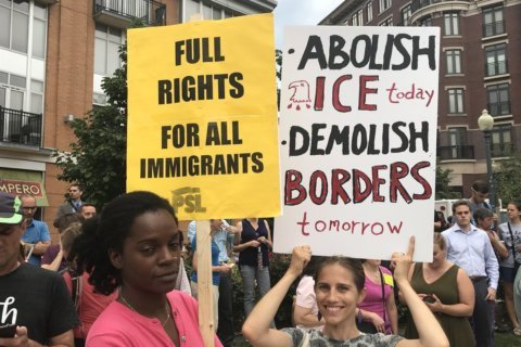 Hundreds protest following reports of ICE arrests in DC (Photos)