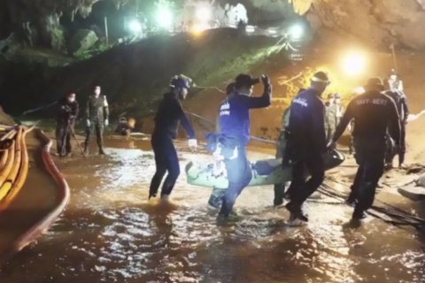 Photos: Search and rescue of Thai boys trapped in cave