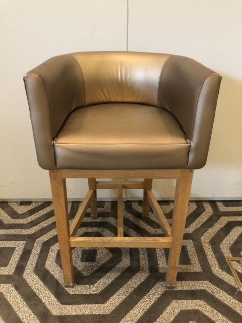 A bar stool from the W Hotel. (Courtesy Rasmus Auctions)