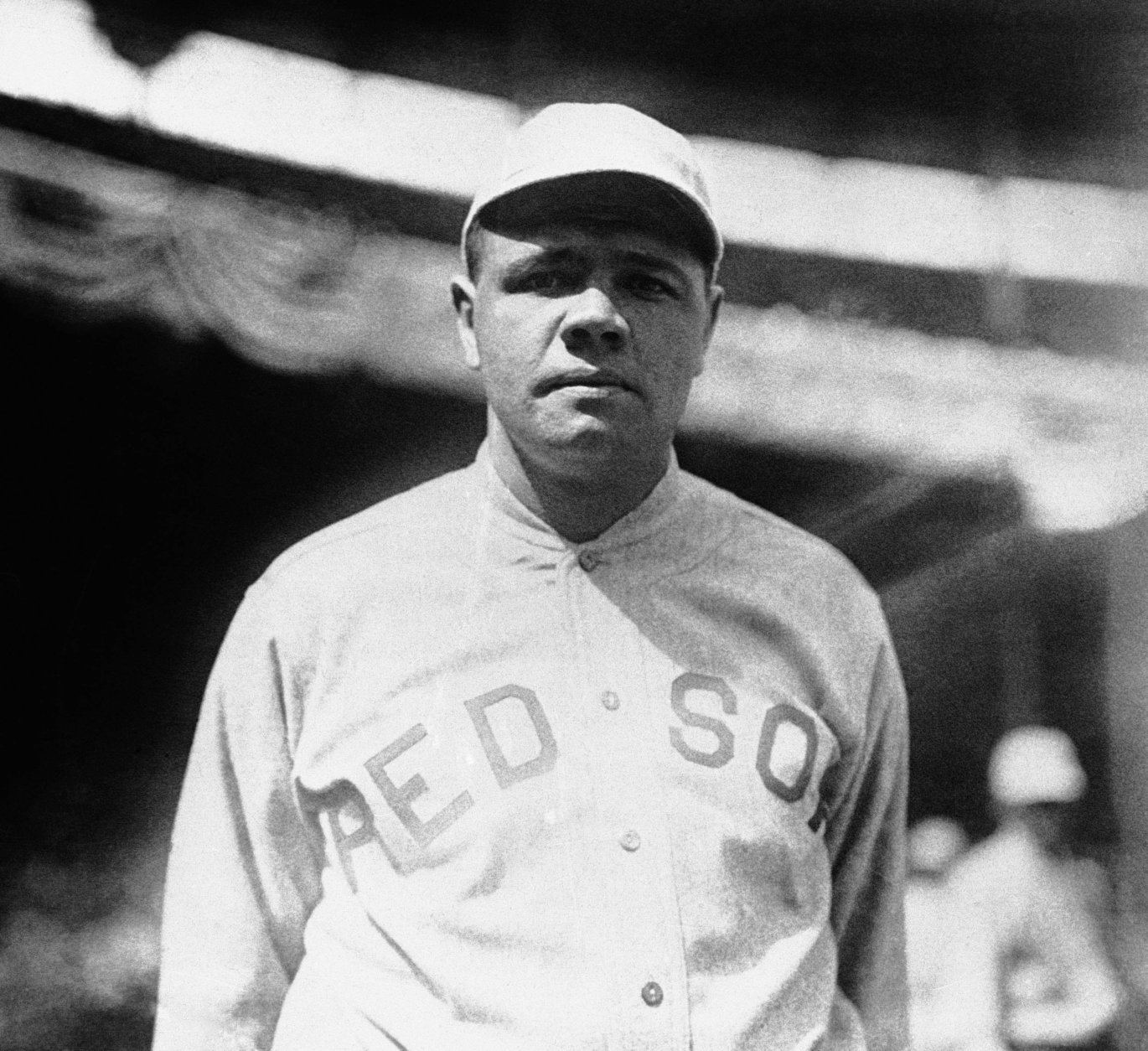 FILE - This 1919 file photo shows Boston Red Sox player Babe Ruth. Ruth played in the 1918 World Series against the Chicago Cubs that the Red Sox won 4-2.  In a 1920 court deposition on display at the Chicago History Museum by Chicago White Sox pitcher Eddie Cicotte,  one of the key members from the infamous 1919 Black Sox scandal, he hinted that the White Sox got the idea to throw the 1919 World Series after the Chicago Cubs threw the 1918 World Series. (AP Photo/File)